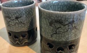 栖鳳窯の湯呑